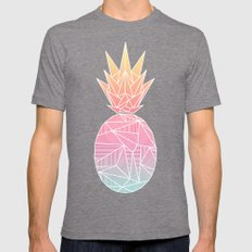Beeniks Rays Pineapple Mens Fitted Tee Tri-Grey SMALL