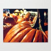 Shiny Pumpkins Canvas Print