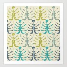 Simple tropical leaves Art Print