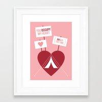 Occupy My Heart Framed Art Print