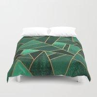 Emerald And Copper Duvet Cover