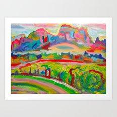 SEDONA HILLS II Art Print