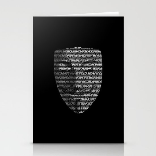 ...You May Call Me 'V' – So who's Anonymous? Stationery Card