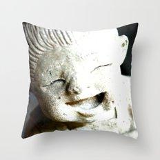 LET SMILE  Throw Pillow