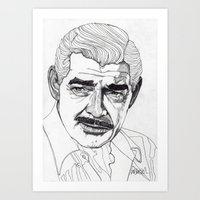 Clark Gable Art Print