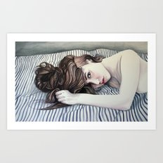 Striped Sheets Art Print