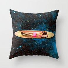 Pleiadian Surfer Throw Pillow