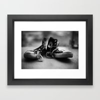 Converse High-tops  Framed Art Print