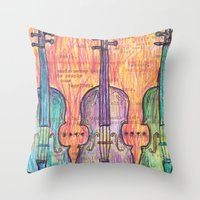 Violin, music to my ears Throw Pillow
