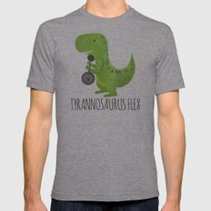 Tyrannosaurus Flex Mens Fitted Tee Athletic Grey SMALL