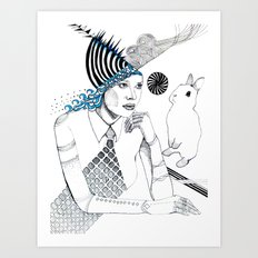 Mysterious Spin Art Print