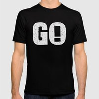GO! Mens Fitted Tee Black SMALL