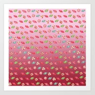 Christmas Candy Peppermi… Art Print