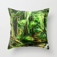 The Great Gaming Forest Throw Pillow