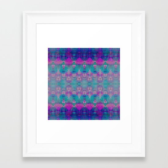Watercolour Tribal Pink Framed Art Print