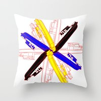 Color Gama Boats Throw Pillow