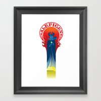 I too shall bestow a gift on the child Framed Art Print