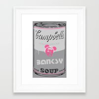 Banksy Soup Framed Art Print