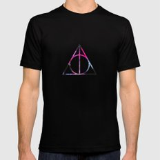 The Deathly Space Hallows Mens Fitted Tee SMALL Black