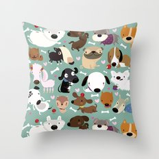 Dog Pattern Throw Pillow