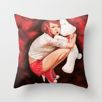 Lines of Me. Snowflake. Throw Pillow