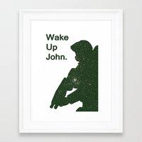 Wake Up John - Halo 4 Framed Art Print