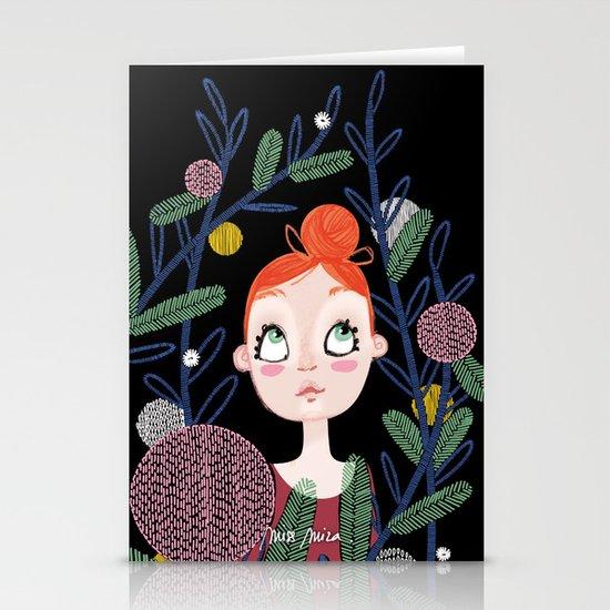 Danseuse nature Stationery Card