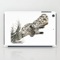 iPad Case featuring Giraffe - A Long Munch by Beth Thompson