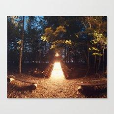 Light of the Teepee Canvas Print