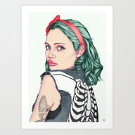Art Print featuring GIRL by Laura O'Connor