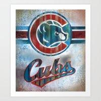 Bleed Cubbie Blue Art Print