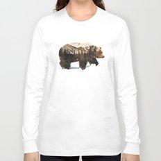 Arctic Grizzly Bear Long Sleeve T-shirt