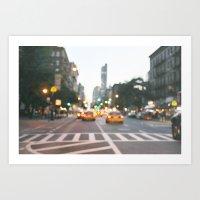 New York City Blur Art Print