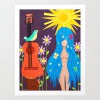 Music Makes Love and Love Makes Music Art Print