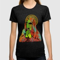 Mother Mary Womens Fitted Tee Tri-Black SMALL