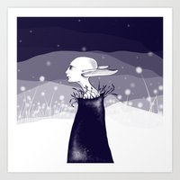 Elf In The Night Art Print