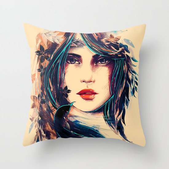 SOME DEVIL SOME ANGEL Throw Pillow
