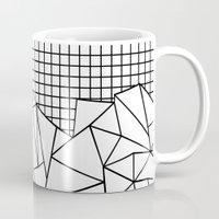 Abstract Grid #2 Black O… Mug