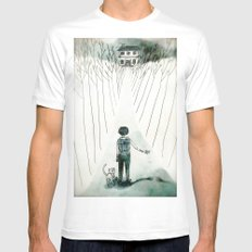 so lonely and so lost... SMALL White Mens Fitted Tee