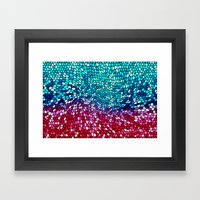 THINK TEAL AND PINK Framed Art Print