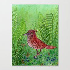 Red Bird Canvas Print