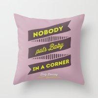 dirty dancing lilac Throw Pillow