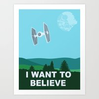 I WANT TO BELIEVE - Star… Art Print