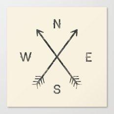 Compass (Natural) Canvas Print