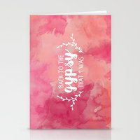 Back to the gypsy that I was Stationery Cards