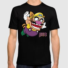Super Wario Bros. 3 Black Mens Fitted Tee SMALL