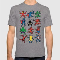 Keith Superheroes Mens Fitted Tee Tri-Grey SMALL