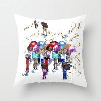 Chinese Grandmas Throw Pillow