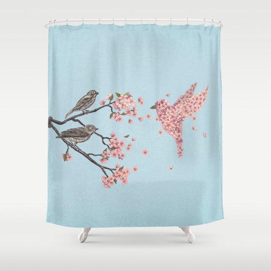Blossom Bird  Shower Curtain