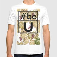 Be U Mens Fitted Tee White SMALL